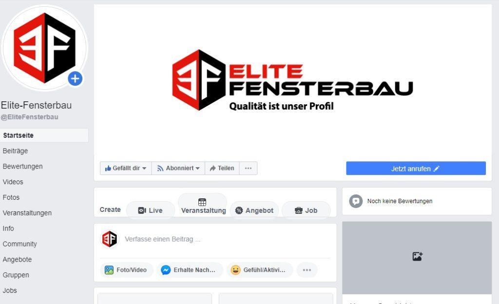 Elite Fensterbau Facebook