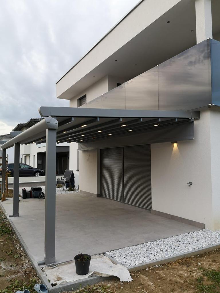 Terrassenüberdachung - Falt-Zelt-System