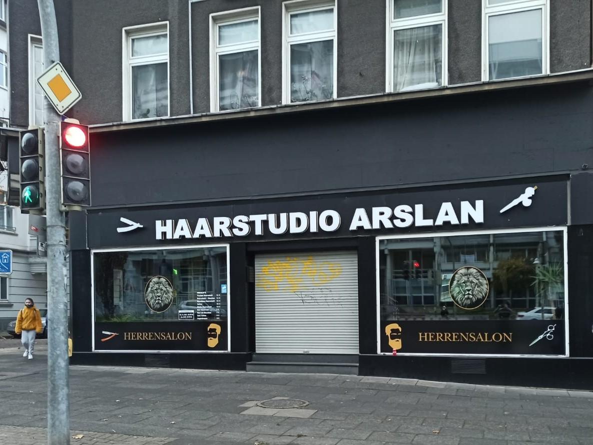 Vordach inkl. LED - Haarstudio Arslan - Dortmund
