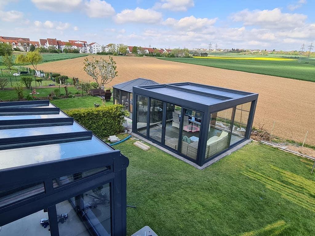 Terrassenüberdachung inkl. LED - Lamellendach - Referenz aus der Nähe von Frankfurt