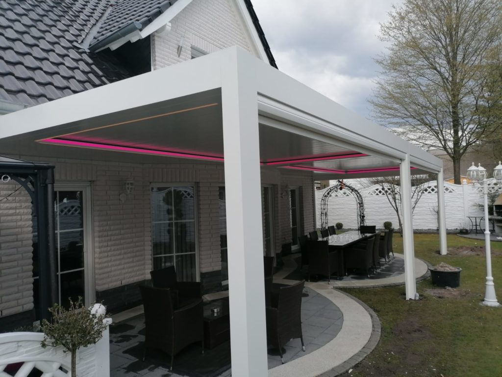 Terrassenüberdachung - Lamellendach inkl. LED – Referenz aus Gütersloh