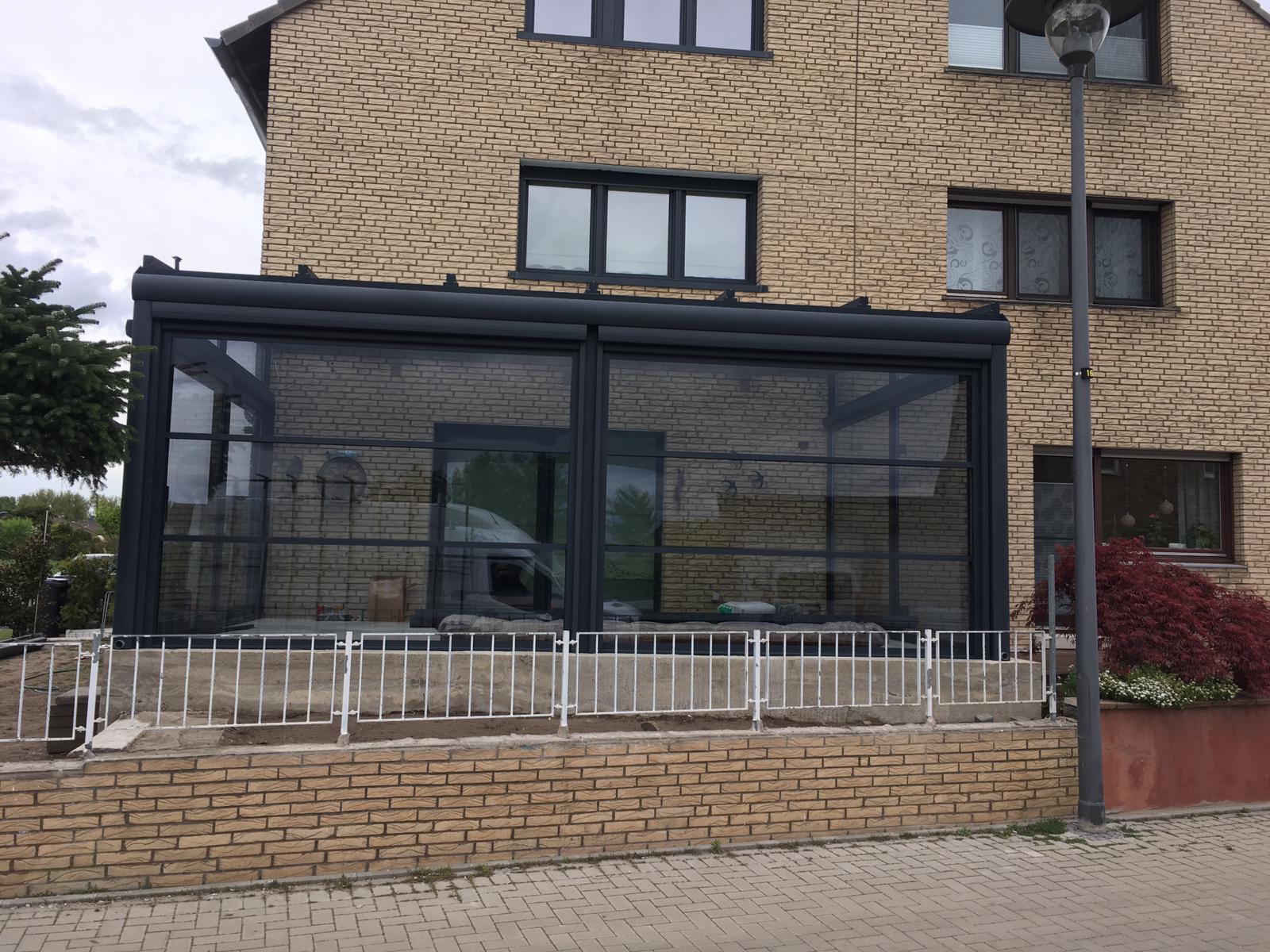 Terrassenüberdachung inkl. LED - Wintergarten - Referenz aus der Nähe von Köln